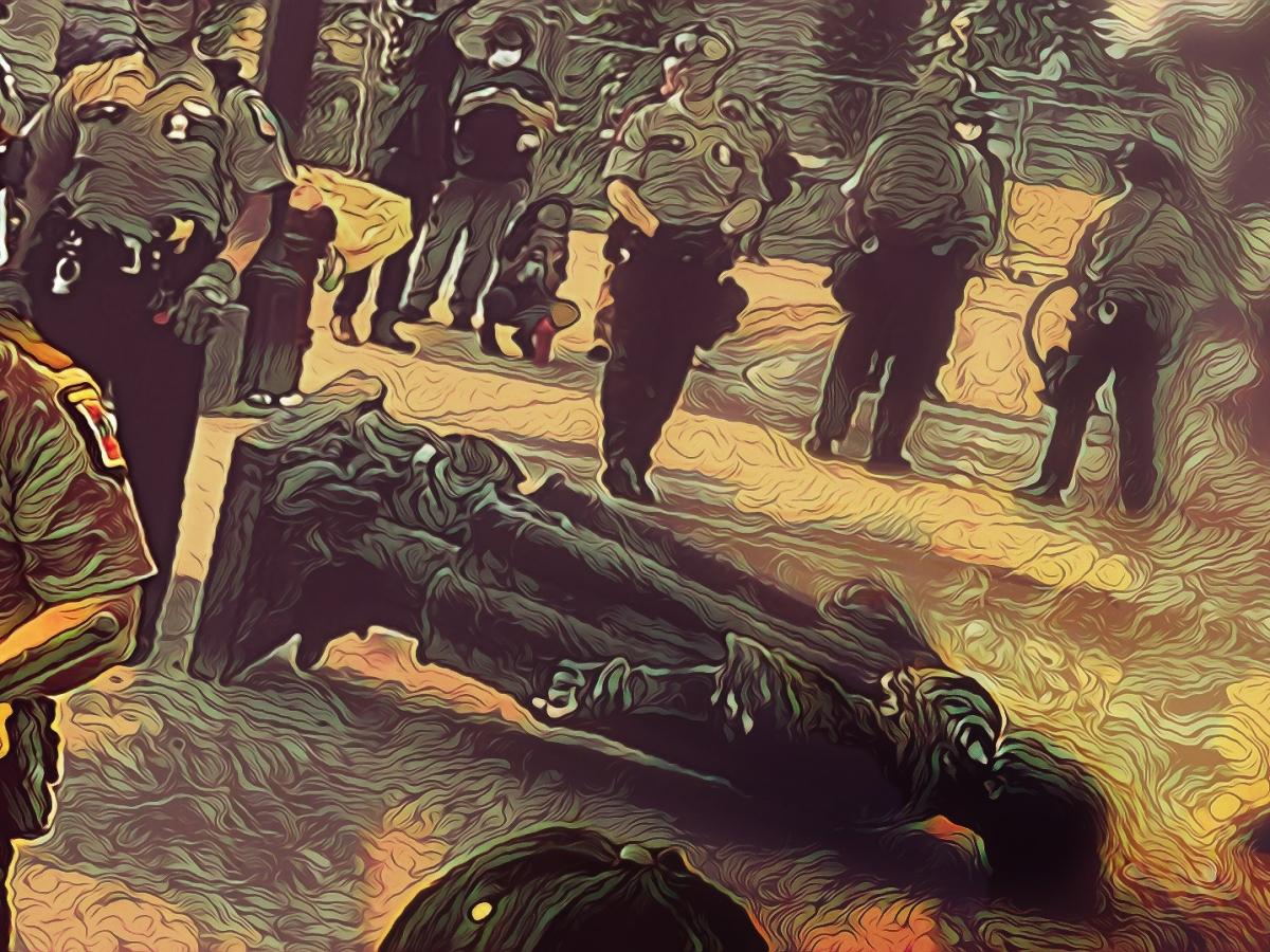 #NoStatuesMatter #3 Study for dark digital illustration of toppled Christopher Columbus. (After 6/20 AP photo).